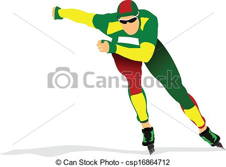 Speed skater clipart clipart freeuse Vector Clip Art of Speed skating poster. Vector illustration ... clipart freeuse