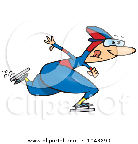 Speed skater clipart graphic transparent stock Royalty-Free (RF) Speed Skater Clipart, Illustrations, Vector ... graphic transparent stock