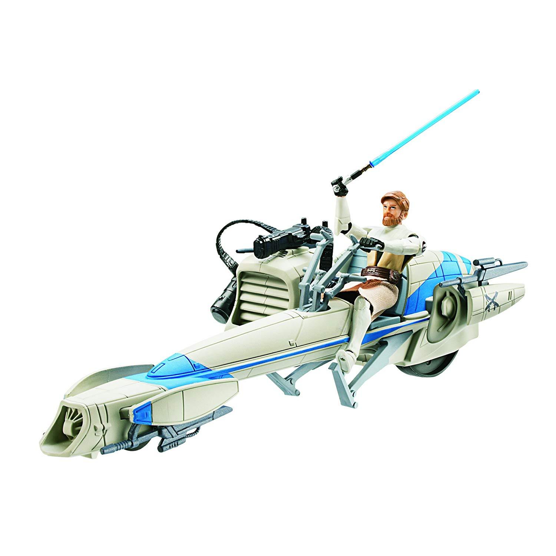 Speeder bike clipart royalty free stock Amazon.com: Star Wars Figure And Vehicle Speeder Bike Obi ... royalty free stock