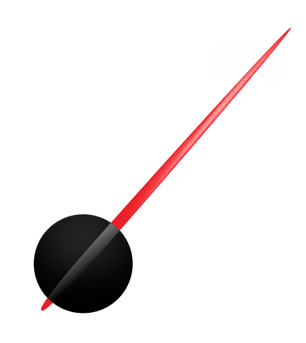 Speedometer needle clipart