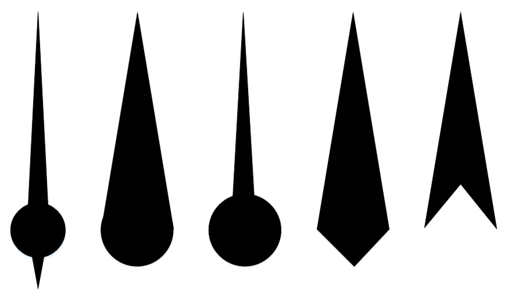 Speedometer needle clipart clip black and white stock Your First Extension: Part 9a – Drawing an Indicator Needle ... clip black and white stock