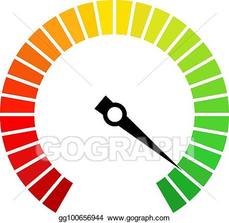 Speedometer vector clipart svg freeuse library Vector Clipart - Speedometer dial vector icon. Vector ... svg freeuse library