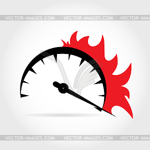 Speedometer vector clipart png transparent library Symbolic increase in speed on speedometer with - vector ... png transparent library