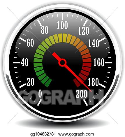 Speedometer vector clipart clip art black and white download Vector Art - Car speedometer vector illustration. Clipart ... clip art black and white download