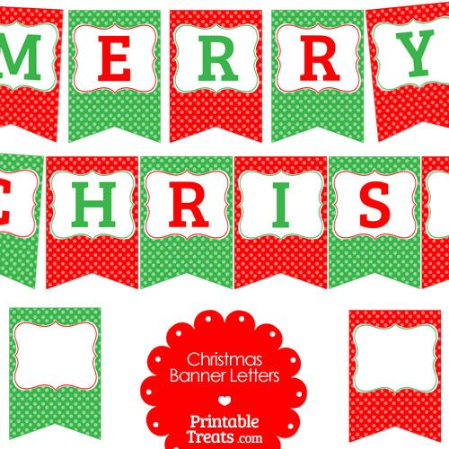 Spell out merry christmas clipart jpg free stock Free Merry Christmas Polka Dot Banner Letters from ... jpg free stock
