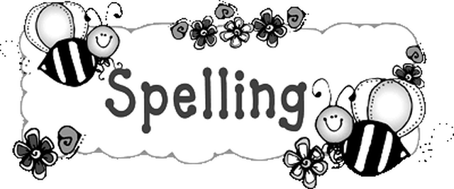 Spelling homework clipart clip free library Spelling - MRS. MILLER\'S 5TH GRADE CLASS clip free library