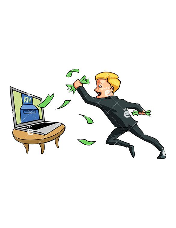 Spewing clipart jpg free download A Man Catching Money Coming Out Of His Computer Screen ... jpg free download