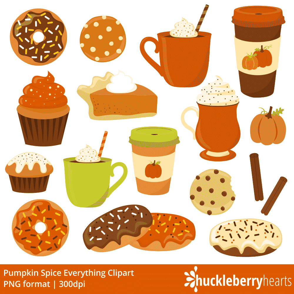 Spice clipart clipart black and white stock Pumpkin Spice Everything Clipart clipart black and white stock