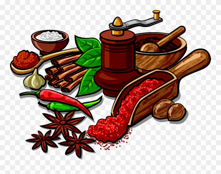 Spice pictures clipart vector transparent stock Indian Cuisine Spice Herb Clip Art Star - Spices And Herbs ... vector transparent stock
