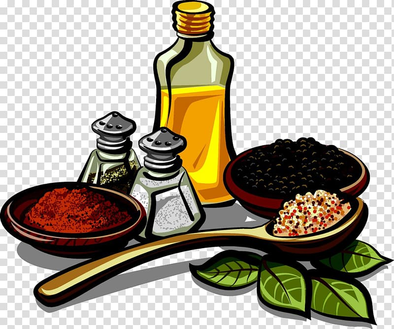 Spice pouring clipart vector library Spice mix Herb Seasoning , Sesame oil with various spices ... vector library