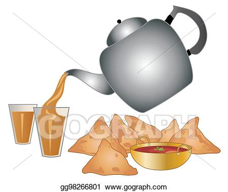 Spice pouring clipart clip art black and white download Vector Illustration - Masala tea. EPS Clipart gg98266801 ... clip art black and white download