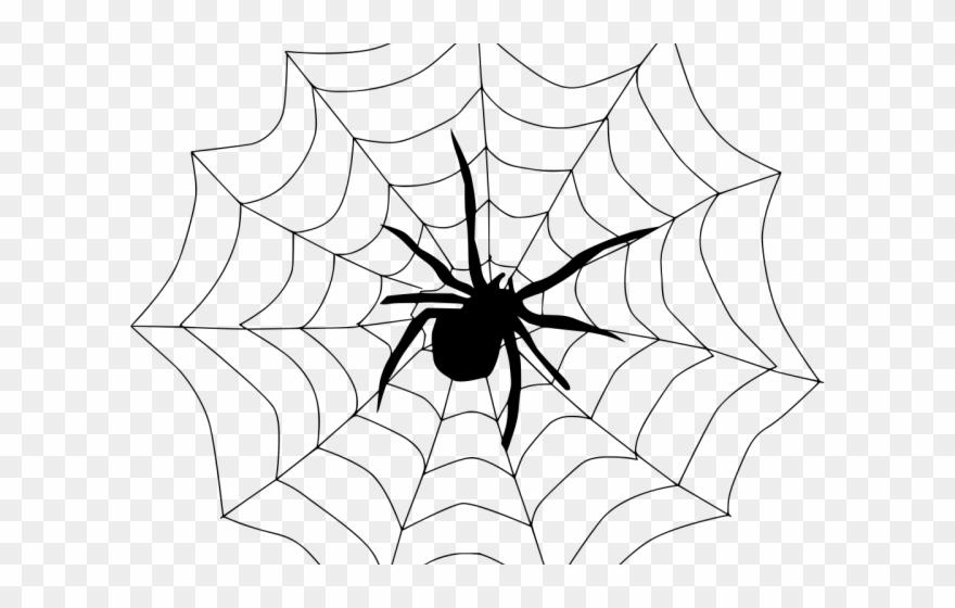 Spider silk clipart clip art black and white download Spider Web Clipart Spider Silk - Spider In A Web Drawing ... clip art black and white download
