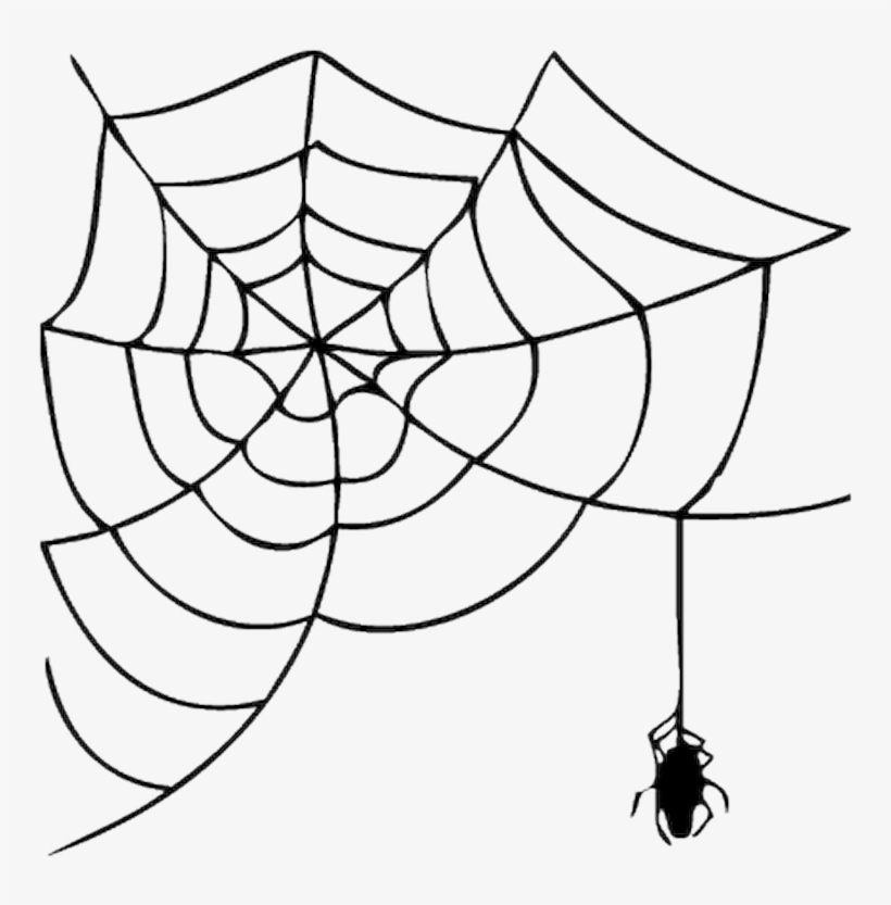 Spider silk clipart svg black and white library Halloween Spider Web Clipart PNG Image | Transparent PNG ... svg black and white library