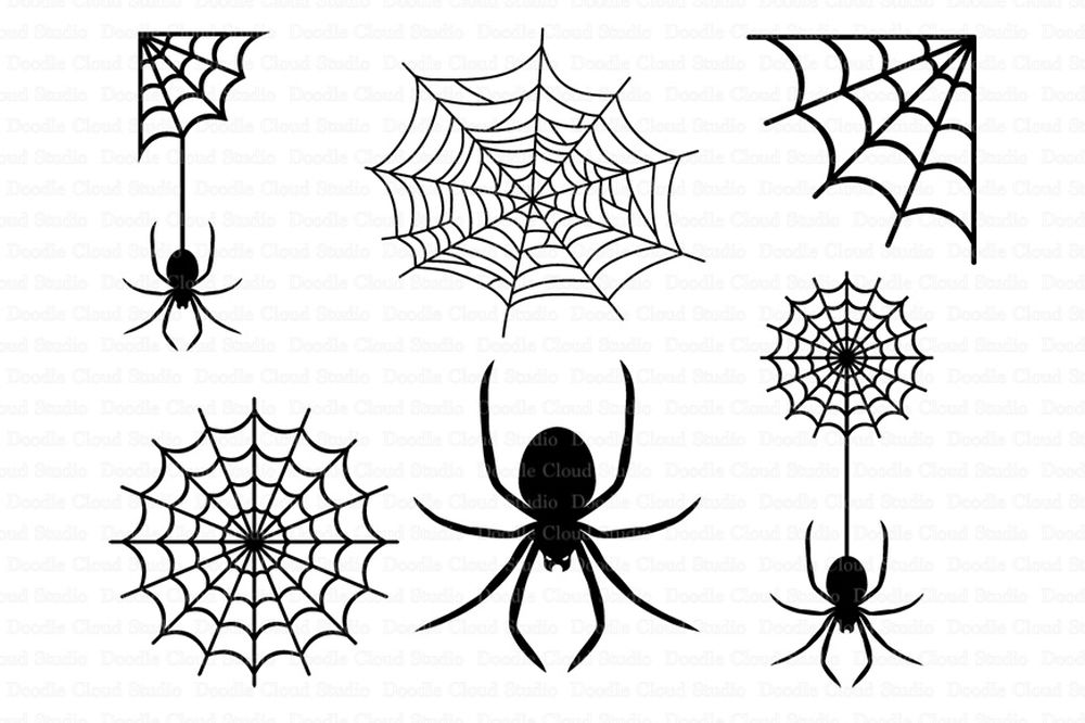 Spider web silhouette clipart banner black and white stock Spiders and Spider Web SVG files for Silhouette Cameo and Cricut. Clipart  PNG Transparent included. banner black and white stock