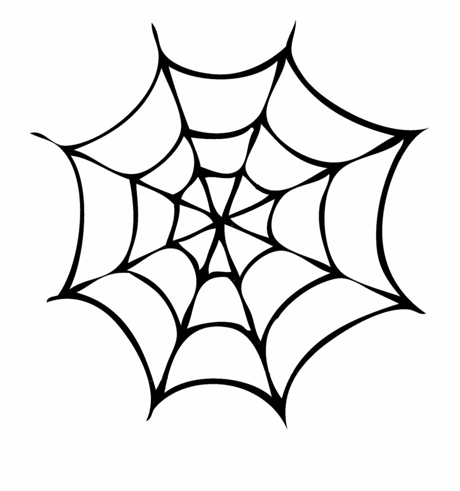 Spider web silhouette clipart banner black and white download Silhouettes Di Halloween - Spider Web Simple Drawing Free ... banner black and white download