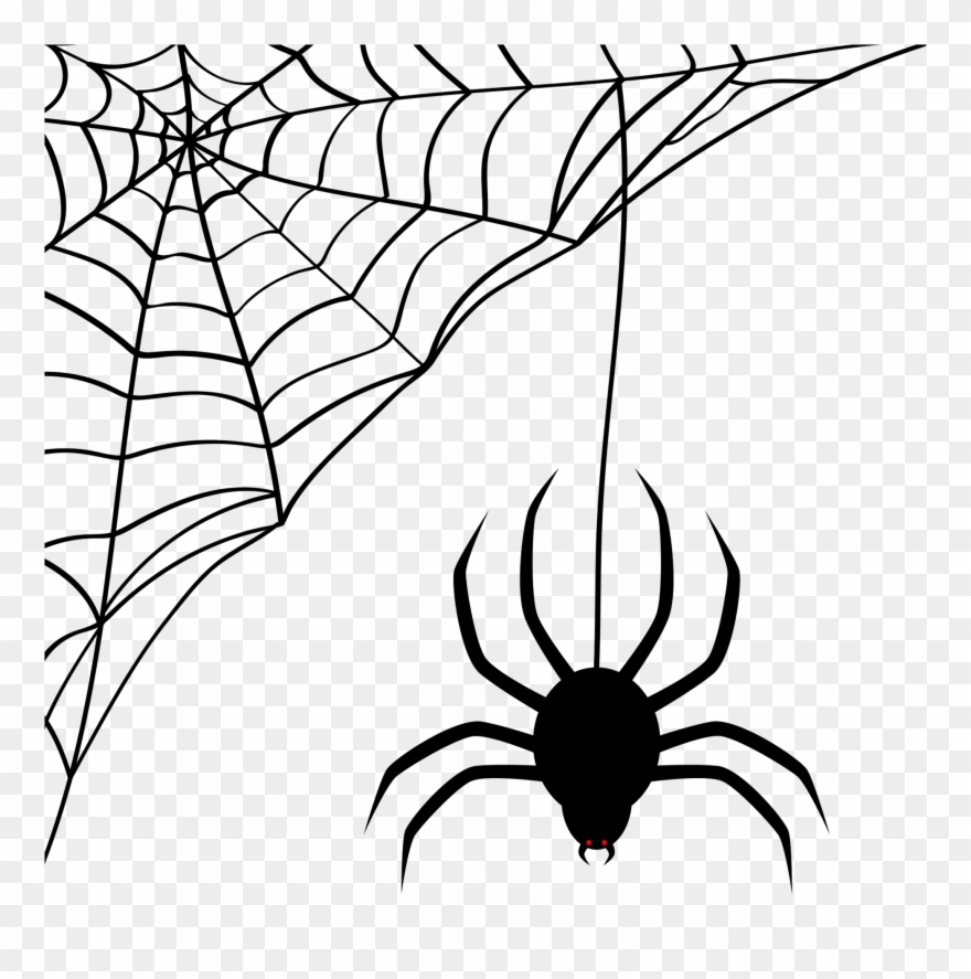 Spider web silhouette clipart image black and white library Black Cat Silhouette - Spider Web Emoji Png Clipart ... image black and white library
