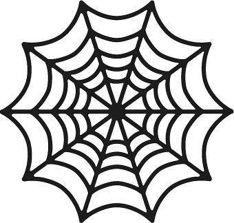 Spider web silhouette clipart picture black and white stock Freebie: Spider Web Die Cut | silos | Halloween spider, Svg ... picture black and white stock