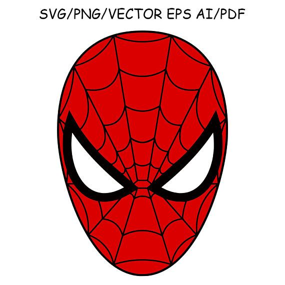 Spiderman clipart face image free Spiderman Mask SVG DXF Spiderman Clipart Vector Cut File ... image free