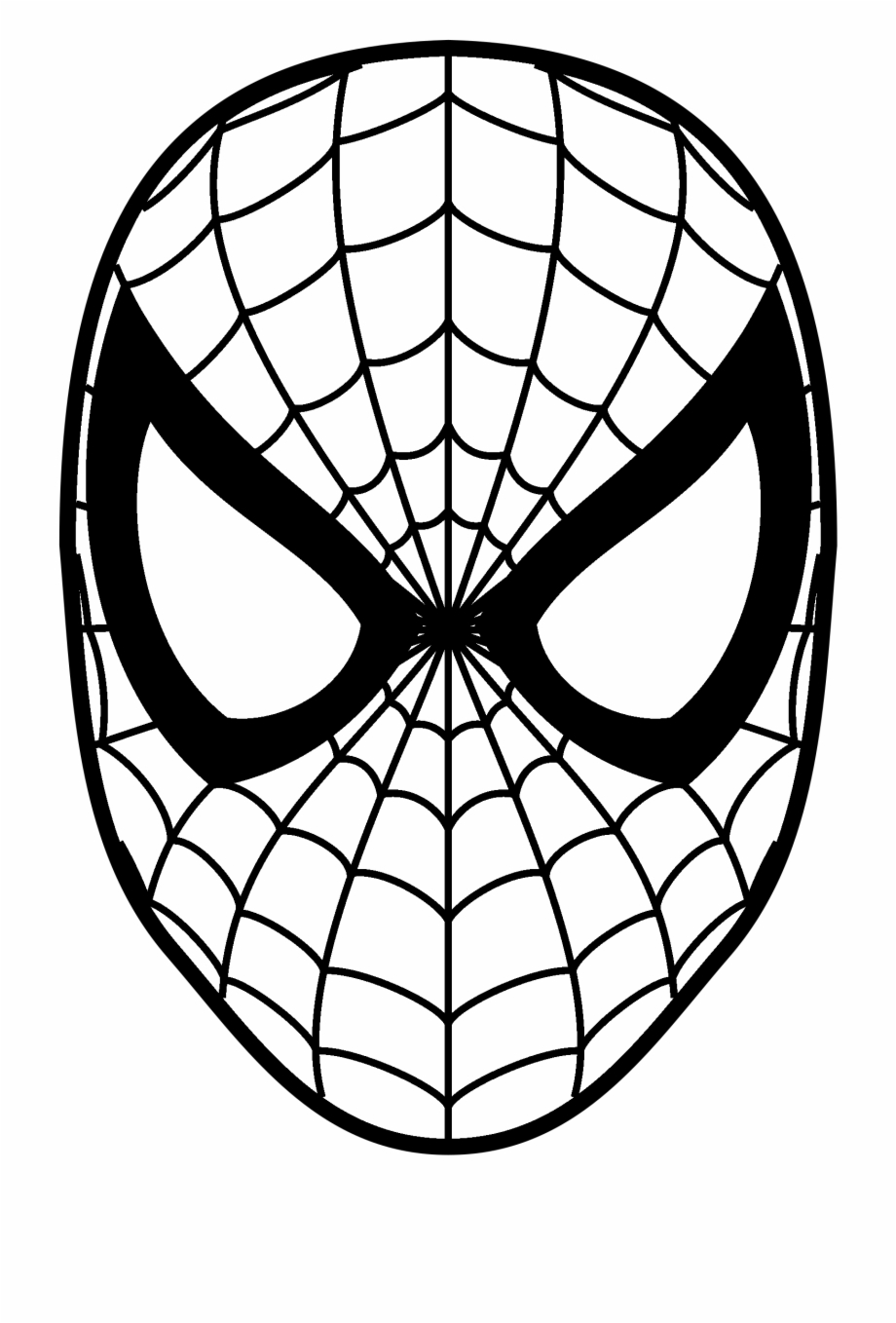 Spiderman clipart face picture royalty free download Spider Man Logo Black And White - Spiderman Face ... picture royalty free download