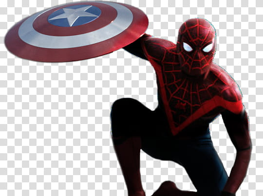 Spidermen shield clipart svg library stock Miles Morales Spiderman Render transparent background PNG ... svg library stock