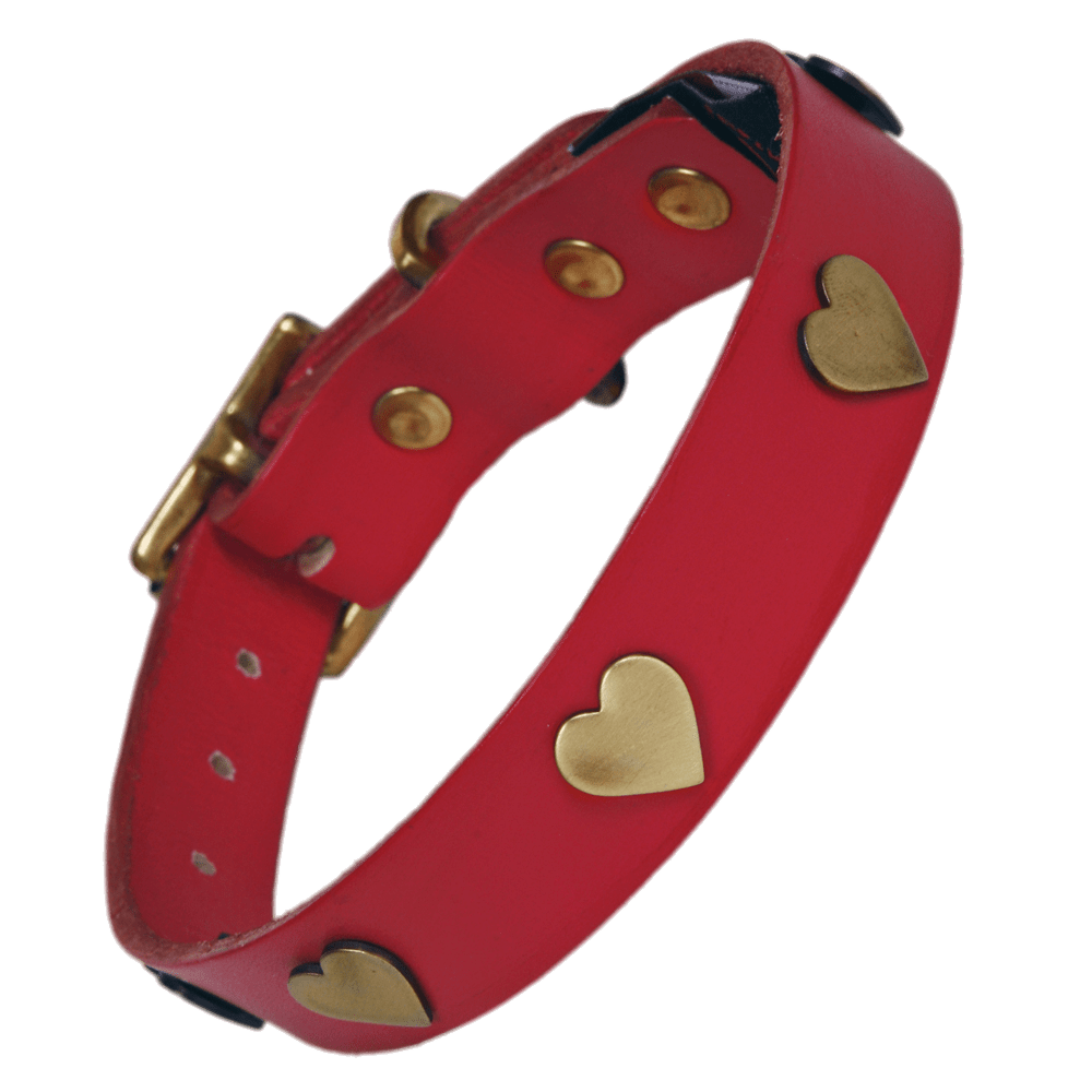 Spiked dog collar clipart picture free stock Golden Hearts Dog Collar transparent PNG - StickPNG picture free stock