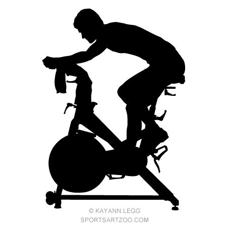 Spin class clipart picture freeuse stock Fitness Spinning Silhouette   Fitness Designs   Spinning ... picture freeuse stock