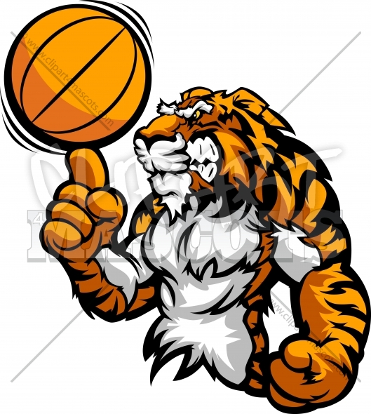 Spinning ball clipart jpg download Basketball Tiger Clipart Vector Graphic jpg download