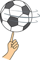 Spinning soccerball clipart banner royalty free Soccer Ball Spinning on finger » Clipart Station banner royalty free