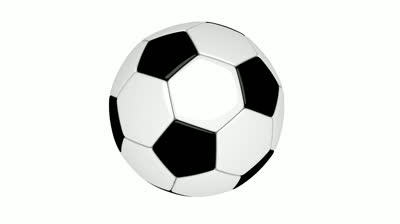 Spinning soccerball clipart image black and white Classic Soccer Ball Spin On White Background Stock Footage ... image black and white