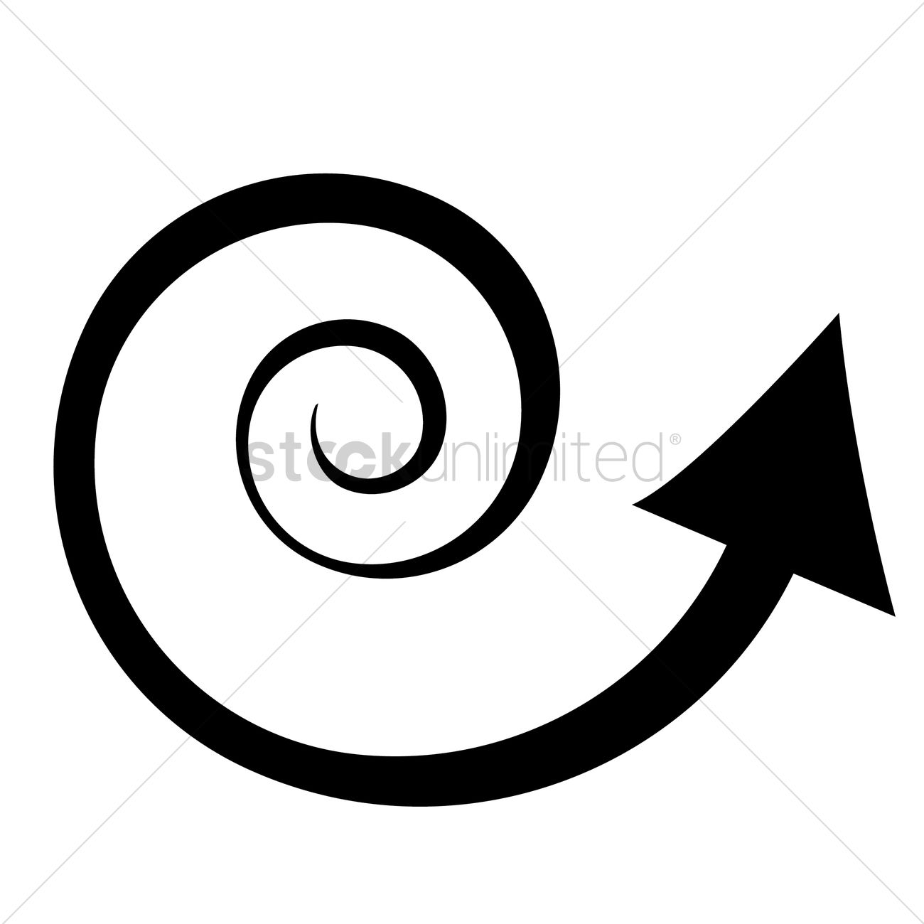 Spiral arrow clipart svg library Spiral arrow Vector Image - 1378722 | StockUnlimited svg library