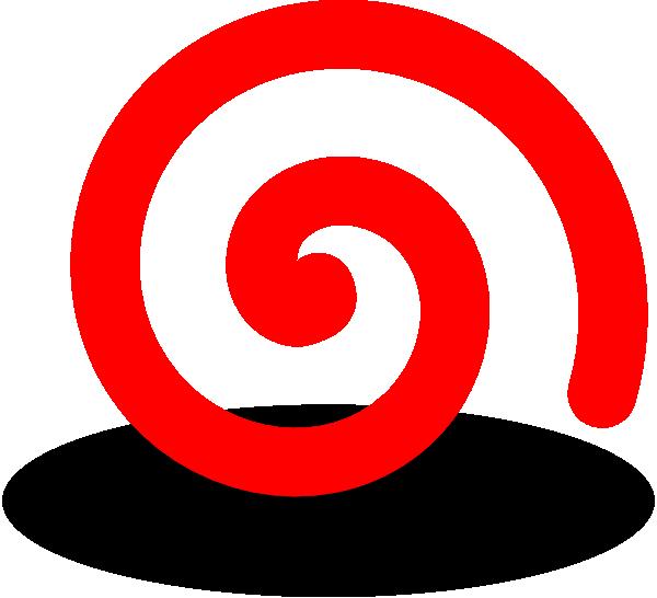 Spiral house clipart clip transparent Fat Red Spiral Clip Art at Clker.com - vector clip art online ... clip transparent