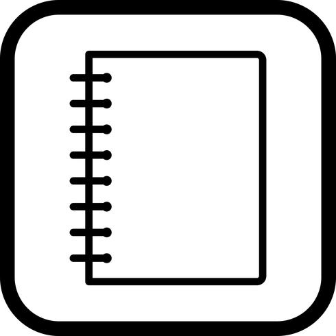 Spiral notebook edge clipart clip royalty free stock Spiral Notebook Icon Design - Download Free Vector Art ... clip royalty free stock