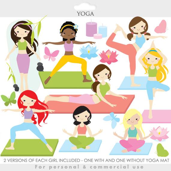 Yoga clipart cartoon clipart free library Yoga clipart - yoga clip art, girl, gals, fitness ... clipart free library