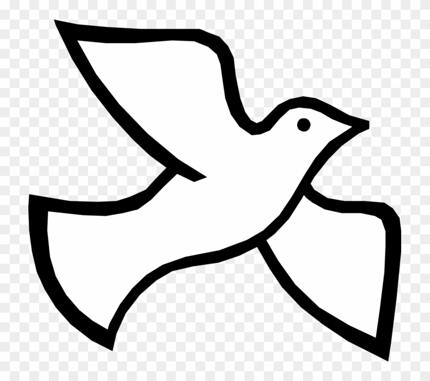 Spirti clipart picture royalty free library Spirit Vector Image Illustration Of Christian Bird - Symbol ... picture royalty free library