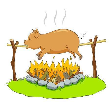 Spit roast clipart svg stock Hog roast clipart 4 » Clipart Portal svg stock