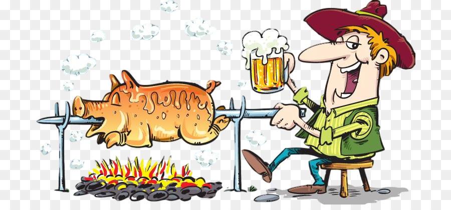 Spit roast clipart vector download Pig Cartoon png download - 758*409 - Free Transparent Pig ... vector download