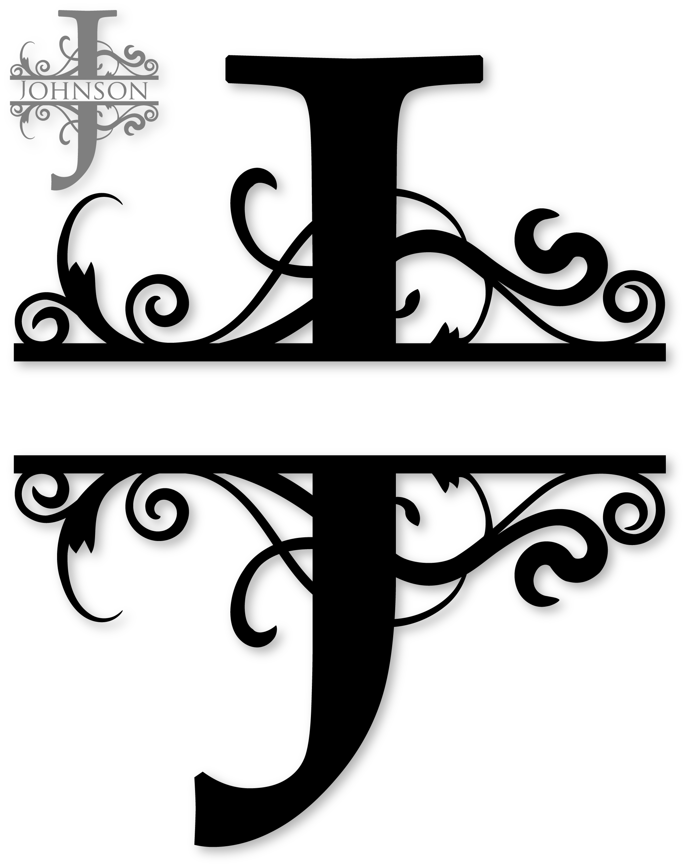 Split cross monogram clipart vector black and white download Image result for Free Monogram Fonts Split   Letras   Pinterest ... vector black and white download