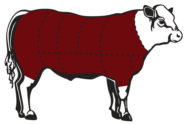 Split side of beef clipart svg transparent Purchase Oxbow Beef - Oxbow Cattle Company svg transparent