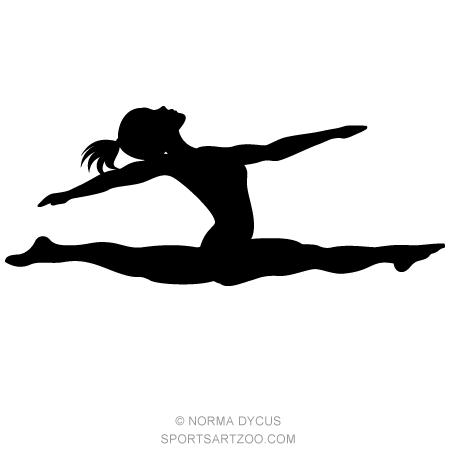 Splits clipart image image transparent Gymnast Split Silhouette | Gymnastics | Gymnastics, Gymnast ... image transparent