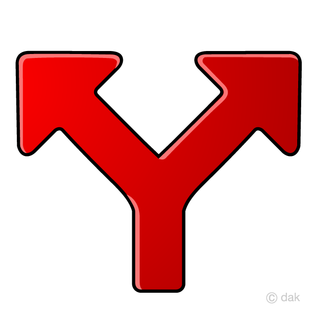 Splitting clipart clip royalty free download Two Splitting Arrow Symbol Free Picture|Illustoon clip royalty free download