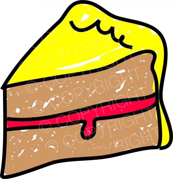 Sponge cake clipart jpg transparent library A Slice of Sponge Cake Prawny Food Clip Art – Prawny Clipart ... jpg transparent library