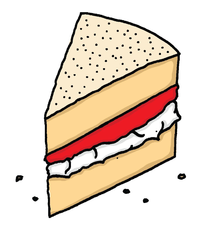 Sponge cake clipart svg stock Victoria Sponge Cake Mini Melt 35g svg stock