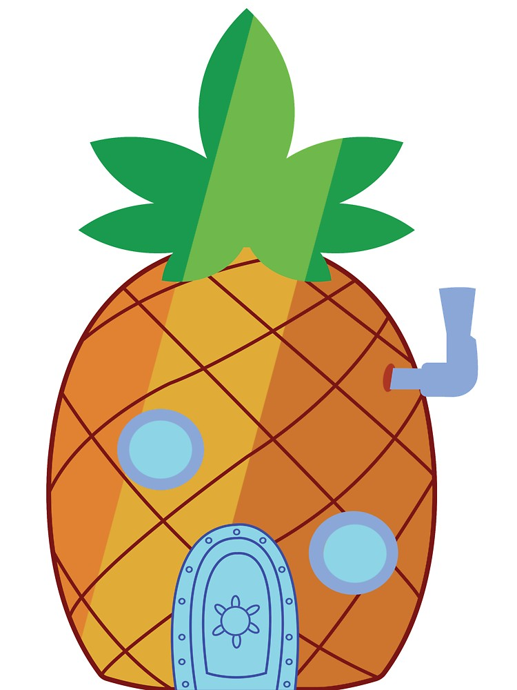 Spongebob pineapple house clipart svg black and white Spongebob Pineapple Weed House | Baby One-Piece svg black and white