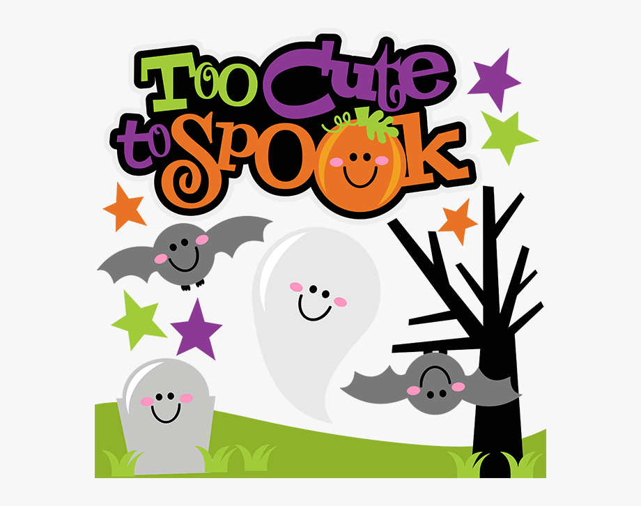 Spook clipart svg free library Too Cute To Spook Svg Scrapbook Collection Halloween - Cute ... svg free library