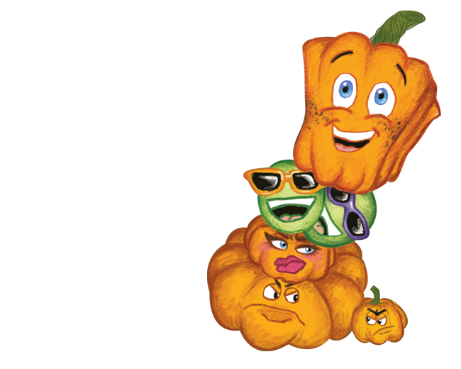 Spookley the square pumpkin clipart vector free First Stage vector free