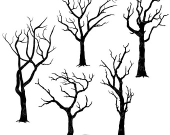 Spooky forest clipart vector black and white download Free Spooky Tree Clipart, Download Free Clip Art, Free Clip ... vector black and white download