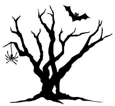 Spooky forest clipart clip black and white download Spooky Tree Cliparts | Free download best Spooky Tree ... clip black and white download
