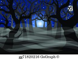 Spooky forest clipart picture library library Spooky Forest Clip Art - Royalty Free - GoGraph picture library library