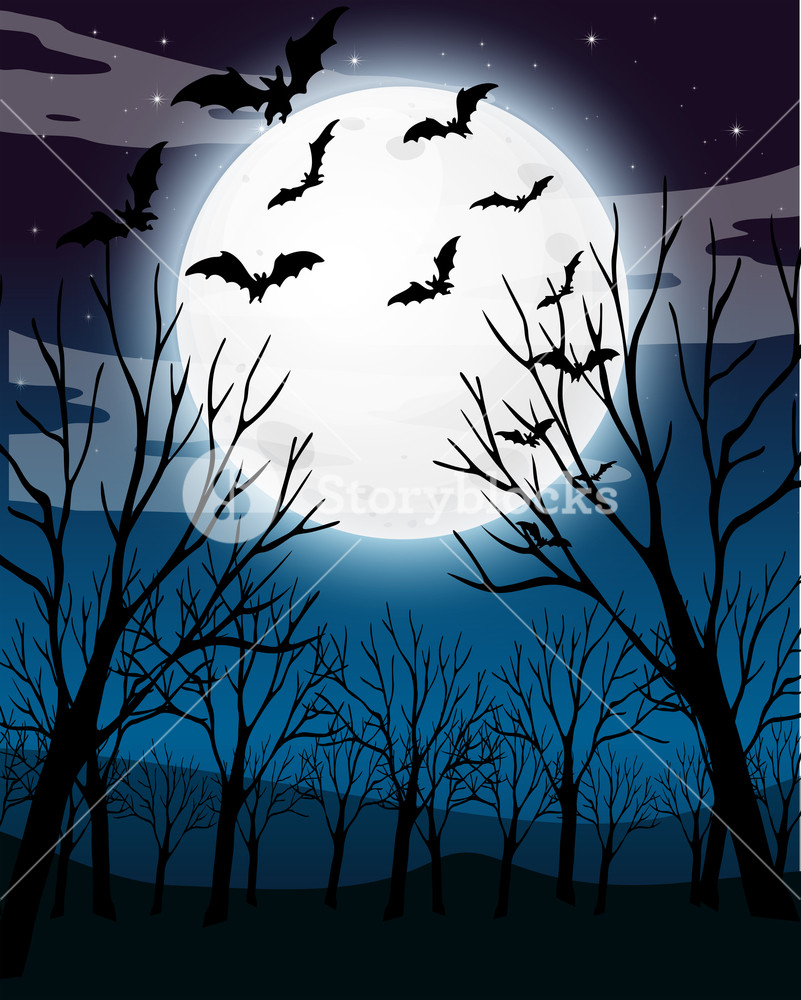 Spooky forest clipart png transparent stock Scary Dark Night Forest Background Royalty-Free Stock Image ... png transparent stock