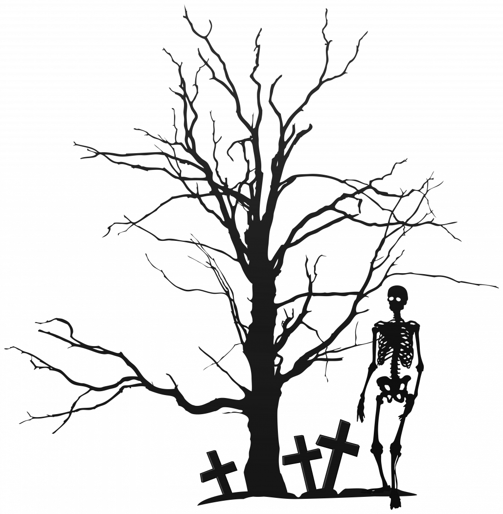 Spooky halloween tree clipart image black and white download Halloween Trees 31413 | Ripricepoint.org image black and white download